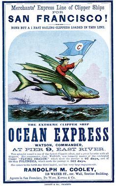 Ocean Express: While in Liverpool in 1855, her crew mutinied and were stranded on English soil without sufficient clothes.