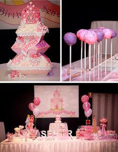 Princess Themed 1st Birthday Party Lots of Cute Ideas via Kara's Party Ideas | KarasPartyIdeas.com #PrincessParty #DisneyPrincessParty #PrincessParty #partyideas