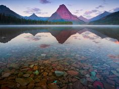 "Two Medicine Lake, Glacier National Park Montana ""Purple Mountains Majesty"""