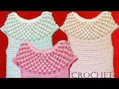 Blusa tejida a crochet para el verano - Learn Knitting easy crochet - YouTube