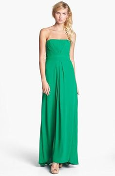 Show Stopper. Strapless Gown by BCBGMAXAZRIA.