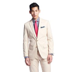 J.Crew - Ludlow suit jacket with center vent in Italian chino