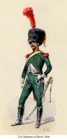 13 chasseur cheval 1807 - Page 169 - Armchair General and HistoryNet >> The Best Forums in History Best Uniforms, Cacciatore, War Image, Napoleonic Wars, Military History, Empire, French, Historia, Hunters