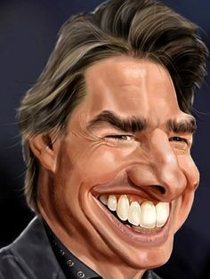 Caricature From Photo, Caricature Drawing, Real People, Famous People, Social Art, Celebrity Caricatures, Cartoon People, Making Faces, Tom Cruise