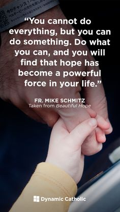 If we are to become people who can shine the light of faith into the darkness of our world, things must change. Beautiful Hope will help you see more clearly and live boldly as children of God. Catholic Catechism, Catholic Books, Catholic Quotes, Roman Catholic, Father Mike Schmitz, Dynamic Catholic, I Believe In Love, Father Quotes, Words Worth