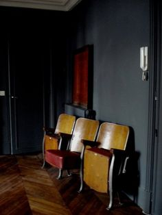 Theater seats- Someday I will have a few old theater seats in my house.