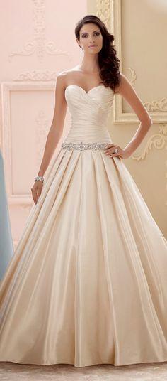 David Tutera for Mon Cheri Spring 2015 Bridal Collection | bellethemagazine.com