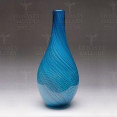 "Blue Glass Vase 20"" High Vase"