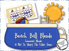 Beach Ball Blends: A Not So Wimpy File Folder Game (consonant blends)   # Pinterest++ for iPad #