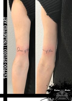 Schrift Tattoo / One of two Tattoo / Mädchen Tattoo // Font Tattoo / One Of Two Tattoo / Girl Tattoo
