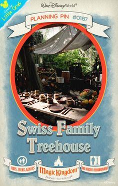 Walt Disney World Planning Pins: Swiss Family Treehouse