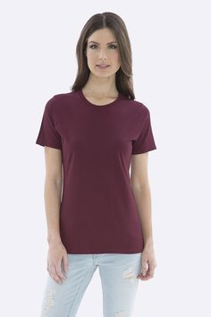 The Authentic T-Shirt Company Everyday Cotton Ladies' Tee T Shirt Company, Tees, Shirts, V Neck, Popular, Stylish, Lady, Cotton, Women