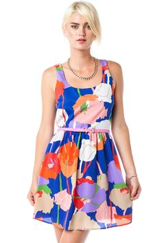 Poppy Passion Dress / ShopSosie #Floral #Print #Dress #ShopSosie