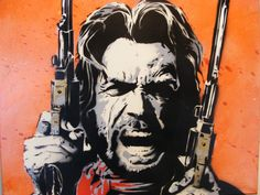 clint eastwood art | Clint Eastwood - Outlaw Josey Wales - Original Spr by ~TheStreetCanvas ...