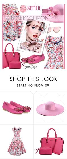 """""""Head-to-Toe-Pink"""" by goreti ❤ liked on Polyvore featuring Salvatore Ferragamo and rosegal"""