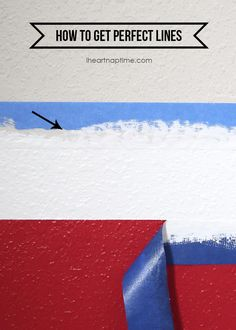 "How to get perfect lines when painting stripes #DIY #tutorial especialy the ""no bleed"" way"