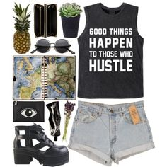 """""""DAY WEAR - HUSTLE"""" by pretty-basic on Polyvore"""