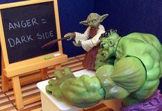 anger = dark side  LOL