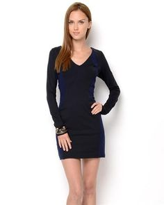 David Lerner Long Sleeve Body Con Dress - Dresses - Apparel at Viomart.com