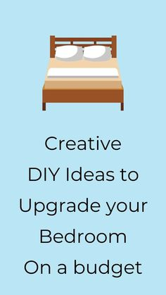 Make over your bedroom with these easy and cheap diy ideas. Learn how to update your bedroom with these budget friendly home decor ideas. #hometalk
