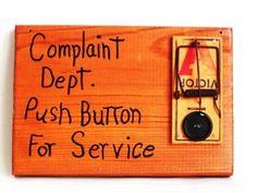 MOUSE TRAP DECORATION complaint department push by nine20nine