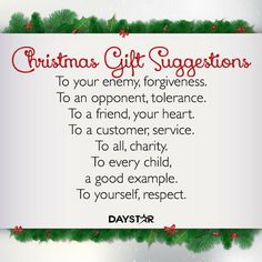 Christmas Gift Suggestions [Daystar.com]