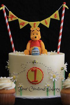 Winnie the Pooh First Birthday Cake