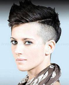 Kurze rasierte Frisuren für Frauen  #frauen #frisuren #kurze #rasierte