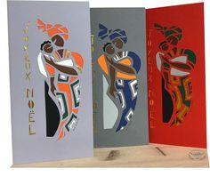 cartes de Noël découpées main Illustration, Ethnic, Scene, Concept, Painting, Brittany, Manta Ray, Sailor Theme, Atelier