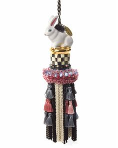 Courtly Check Rabbit Tassel by MacKenzie-Childs at Neiman Marcus.