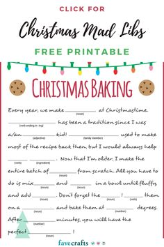 This free printable Christmas Mad Libs is so much fun! It's a great family game for the holidays. Free Christmas Games, Printable Christmas Games, Christmas Activities, Simple Christmas, Kids Christmas, Christmas Crafts, Printable Calendar Template, Free Printable, Mad Libs