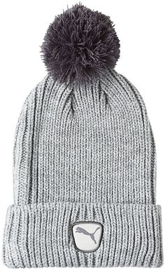 3243d4aaa9c4b Take a retro look to the golf course this coming winter with this warm and  cozy womens cat patch golf beanie hat by Puma!
