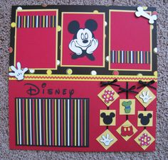 Disney 12 x 12 2Page Scrapbook Layout  by TwoCraftyCreations, $15.25