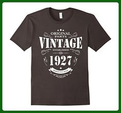 Mens Established in 1927 perfectly aged funny 90th Birthday Shirt 2XL Asphalt - Birthday shirts (*Amazon Partner-Link)