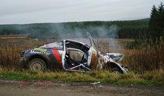 Colin Mcrae crash Rallye Crash, Rallye Wrc, Acropolis Greece, Weird Cars, Crazy Cars, Colin Mcrae, Monte Carlo Rally, Ford Focus, Focus Rs