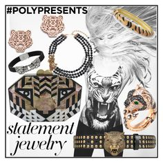 """""""#PolyPresents: Statement Jewelry"""" by iconexpressions ❤ liked on Polyvore featuring Rafé New York, Gucci, Kenneth Jay Lane, Kenzo, Heidi Daus, contestentry and polyPresents"""