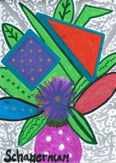 """Flowers Gone Wild Mini"" - - 5"" x 7"" Original heARTwork by Susan Schanerman"