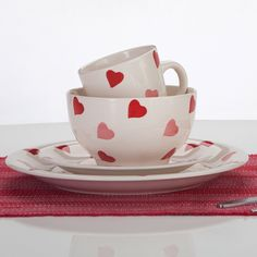 Charmant 16pc Hearts Dinner Set