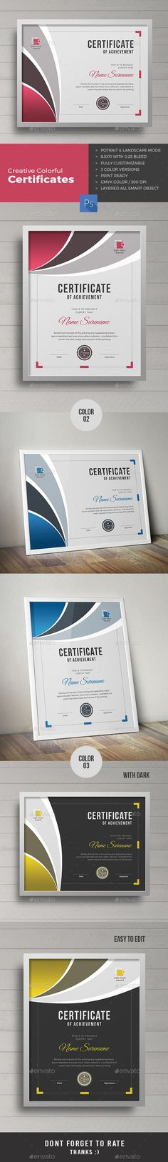 A3 Certificate Template Certificate, Template and Certificate design - business certificates templates