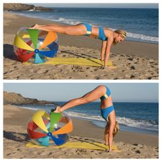 The Beach Ball Workout - 6 moves to tone your glutes, abs, and more. I will use my workout/gym ball!