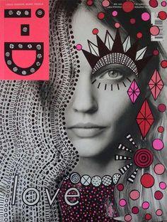 Magazine Cover Doodle Art by Ana Strumpf & Hattie Stewart Re.Cover Magazine Art by Ana StrumpfRe.Cover Magazine Art by Ana Strumpf Magazine Collage, Magazine Art, Ideas Magazine, Magazine Editorial, Magazine Titles, Magazine Layouts, Vogue Magazine, Design Graphique, Art Graphique