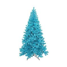 "9'  "" Tree 700Teal 2581T - Sky Blue ($1,052) ❤ liked on Polyvore featuring home, home decor, blue and blue home decor"