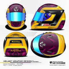 Daniel Devereaux helmet design project - On Arai GP6 - With Kay Helmetdesign. ©2017 - K. ROSSI - All rights reserved.