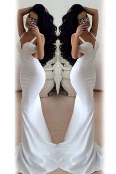 Top seller 2015 Party Dress Sexy Mermaid Princess Backless Maxi White Evening Dress (Size: M, Color: White) Club Party Dresses, Party Dresses For Women, Evening Dresses, Prom Dresses, Formal Dresses, Sexy Dresses, Wedding Dresses, Western Wear Dresses, Trumpet Dress