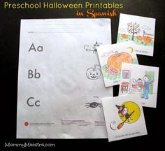 Halloween is less than two weeks away, so this month's free printables from Monarca Language  are all about día de las brujas . Don't for...