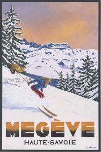 20+ idées de Megève vintage | megeve, affiche vintage, affiches rétro
