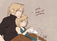 """Ed: """"Quick, while mom's not watching"""" This is adorable lol! Ed vs milk by 3rdHayashida on DeviantArt"""