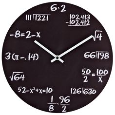 Pop Quiz Matte Black Wall Clock - Overstock Shopping - Great Deals on LexMod Clocks