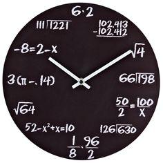 Pop Quiz Matte Black Wall Clock - Overstock Shopping - Great Deals on LexMod Clocks Math Clock, William Penn, Wall Watch, Displays, Cool Clocks, Teacher Gifts, Math Teacher, Matte Black, Black 7