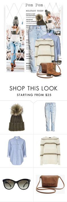 """Pom Pom Beanie"" by fashion-architect-style ❤ liked on Polyvore featuring Inverni, H&M, Topshop, Dorothy Perkins, Miu Miu and Steve Madden"